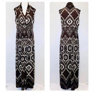 Chico's Batik Print Empire Maxi Dress